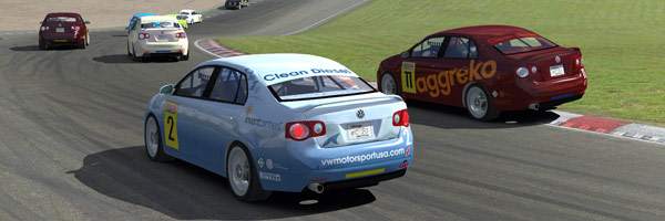The Shark Racing Jetta Club race at brands, first corner