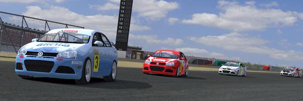 Drivers racing hard at Charlotte