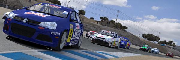 Jettas racing a Laguna Seca