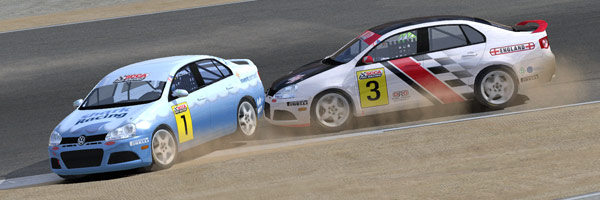 Contact into the first corner at Laguna Seca