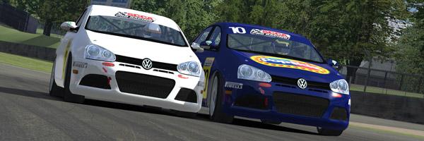 Barrington and Jones door to door at Brands Hatch Indy